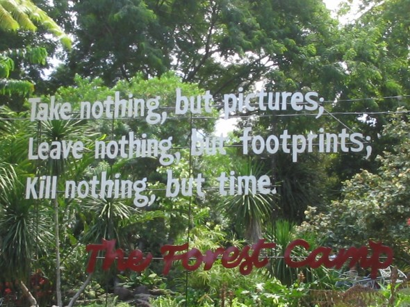 Take nothing but pictures, leave nothing but footprints . . .
