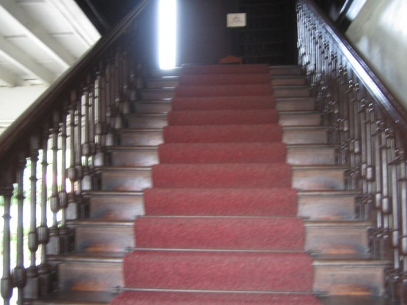 the mansion's grand staircase