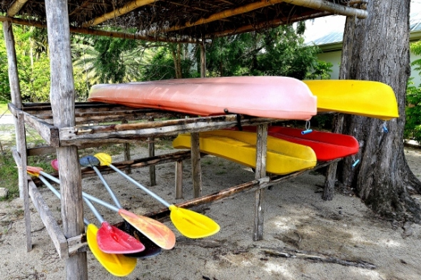 Kayak your way to the nearby resorts