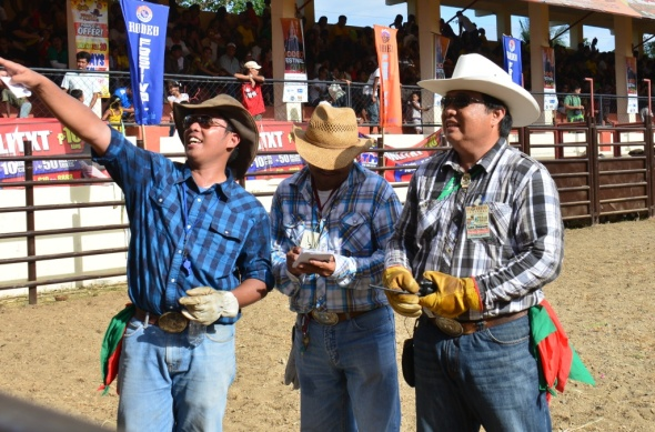 rightmost is Leo Goizum of Masbate, also the National Rodeo Director