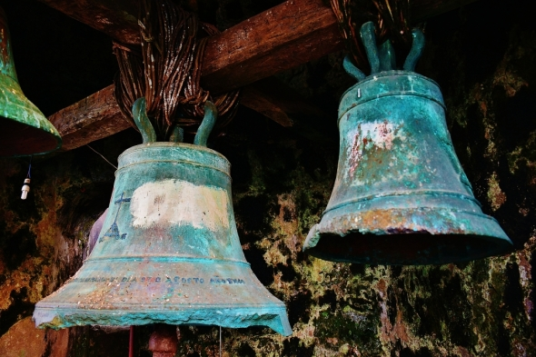 climb up the bell tower and see these antique church bells