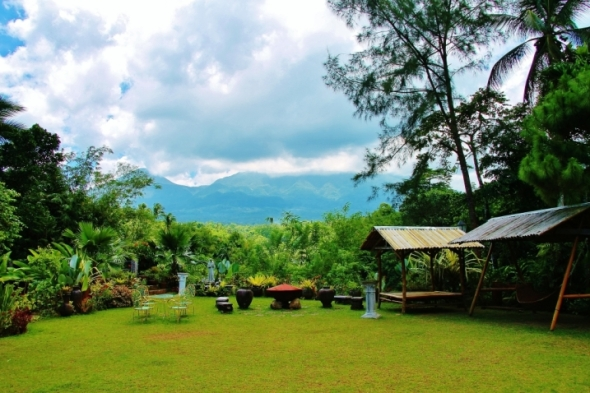 I can't find a better spot to view mystical Mt Banahaw after being here