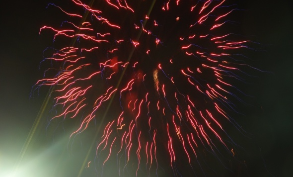 Fireworks started the awards ceremonies