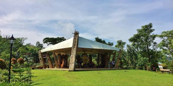 the tent chapel of Transfiguration (not to be mistaken for the main chapel accessed from the cenaculum, which one should save for last)