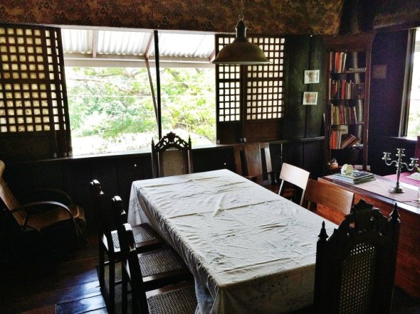 the common area for the Tampuhan B&B guests - - dine here or laze around