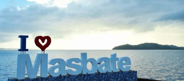 the second Masbate signature (the big one is at the Capitol Building). This one is at the Safe House at Himomoro Boulevard, Masbate City. Interestingly, the famous Buntod Reef is the backdrop of this I Love Masbate signage.