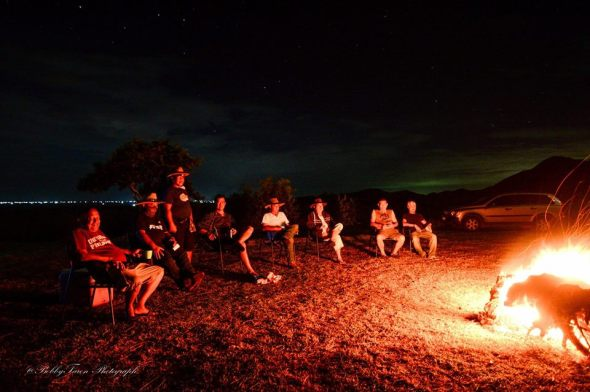 Our ranch life experience was highlighted by a bonfire on the hilltop with only the stars above us.