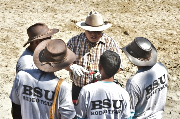 VROoM Rodeo Director briefing the competing teams before an event