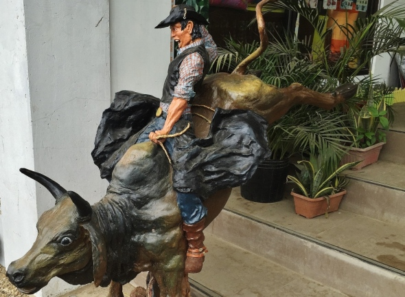 SUTUKIL is in the rodeo capital of the Philippines, and a rodeo display greets diners