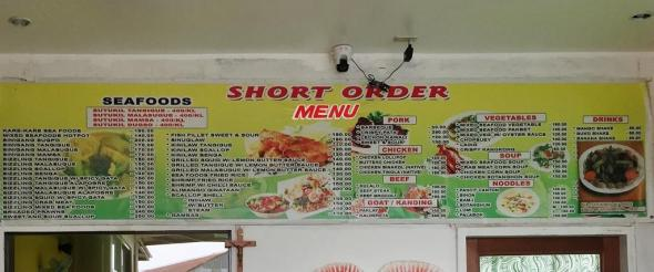 The same menu board I first saw in 2013, and prices have not changed. This board has moved many times, as SUTUKIL was expanding little by little.