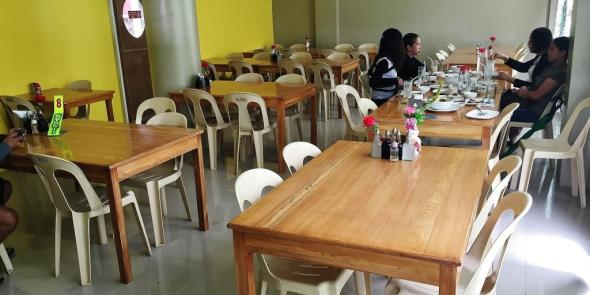 the regular dining area at the ground floor