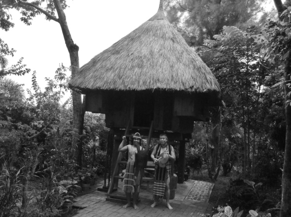 Authentic Ifugao house built by native men from Banaue, Ifugao